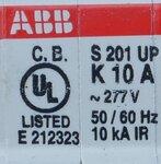 ABB S 201 UP Installatieautomaat K 10A 1P, 2CDS271317R0427