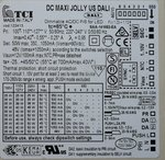 TCI DC Maxi Jolly US DALI 1-10V push and dim multifunctionele LED driver