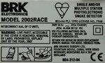BRK Electonics 2002RACE Rookmelder BS5446