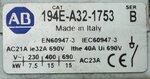Allen Bradley 194E-A32-1753 hoofdschakelaar 32 A, 15 kW, IP65