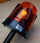 COBO 35.400 Amber Beacon Light Rotating 12V 490080