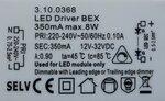 Selv 3.10.0368 LED Driver 350mA max. 8W dimbaar