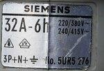 SIEMENS CEKON 5UR5 276 stekker 3P+N+E 32A 6h