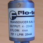Flo-tech F2086-SCDI Turbine Flow Sensor F2086SCDI
