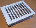 Upmann ventilatierooster met vliegenhor inbouwframe 150x150mm 50165 wit