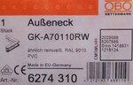 OBO Buitenhoekstuk wandgoot 70x110mm GK-A70110RW 6274310