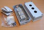 Allen Bradley 800E-3M Drukknop behuizing 3 gaten 22,5mm IP66 4x13 grijs
