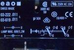 EAO 03-619.011 Drukknop Zonder toetsenplaat