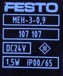 Festo magneetventiel MEH-3/2-1/8-P-B 173126