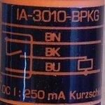 IFM Efector IA-3010-BPKG Inductieve sensor Ø20mm DC PNP maakcontact