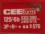 CEE form 125-6h koppelcontactstop stekker 5 polig typ 576