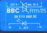 BBC R111/25 lastrelais GHV 1110001 R2 relais