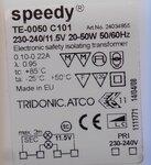 Tridonic TE-0050 C101 Speedy Transformator laagvolt lichtsysteem 24034855