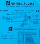 Pepperl+Fuchs KFD2-GS-1.2W Current/Voltage Trip Value 038311