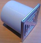 Dalmar 500151 opzetstuk VEC 15, zijdelings verstelbaar, 150 x 150 mm RVS 3-500151