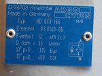 Argo Hytos HD 049-166 Hogedrukveiligheidsinrichtingen filter V3.0510-06, D-76703