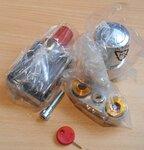 Danfoss 013G4276 VHX DUO onderblokset design recht chroom