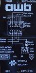 AWB 9500073 type x.176, prim. 220V/50Hz, sec. 24V-7VA