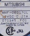 Mitsubishi MMF-06D12DL ventilator 12V DC 0.07A 071345 F01