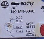 Allen Bradley CAT 140-MN-0040 motorstarter