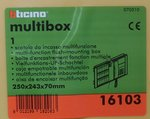 Bticino 16103 multibox inbouwdoos 3 modules 250x243x70mm