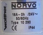 Walther 10290 Norvo 3/16A stekker, 16A 3P 24V IP44