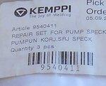 Kemppi 9540411 repair kit for speck pump