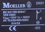 Klöckner moeller knop zwart EK01 contact element