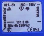 Walther 131306 CEE contrastekker 32A, 220/250v, 2P+E
