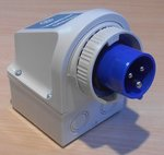 Walther 618306 Gemonteerde CEE stekker 16A 3P (2P+E) 200-250V 6h IP67