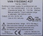 Pepperl+Fuchs VAN-115/230AC-K27 voeding AS-Interface power supply 238626