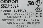 Omron S82J-6024 voeding AC 200-240V 1.5A, DC 24V 4.5A
