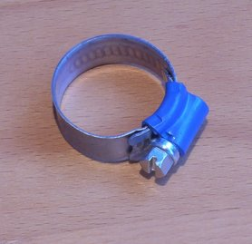 Aba verzinkte wormschroef slangklem 08-09mm