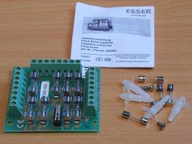 Esser Honeywell 382040 zekeringskaart 8x 0,5A zekeringen branddetectietechnologie