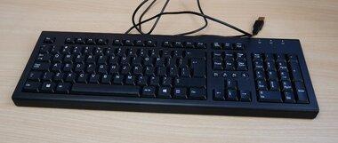 HP PR1101U toetsenbord USB zwart 697737-L31