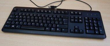 HP KU-1156 toetsenbord USB zwart 672647-L33