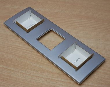 Bticino N4802/3AL 3-voudige afdekraam frame 3 modules