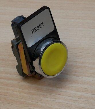 Telemecanique knop geel met ZBE-101 NO contact element