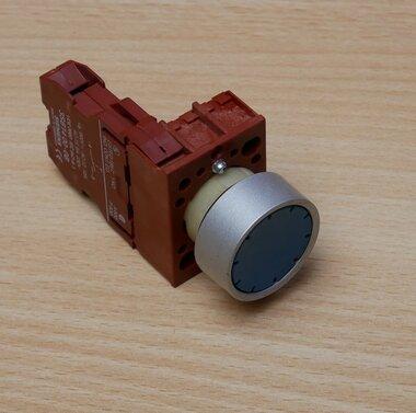 Siemens knop blauw met 3SB14 00-0B Contactblok 6A 230V NO