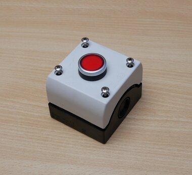 Baco knop rood, incl. Klöckner Moeller 3R, 4X, 12, 13 behuizing
