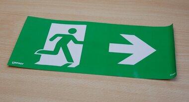 Linergy STIS02 sticker pictogram noodverlichting pijl rechts