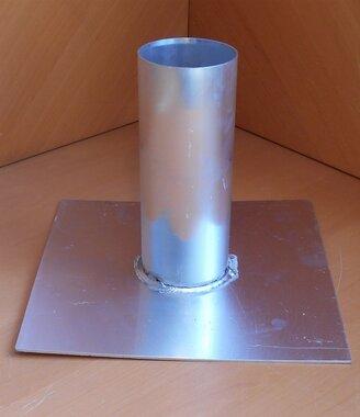 Dakdoorvoer voor platdak Ø96mm aluminium