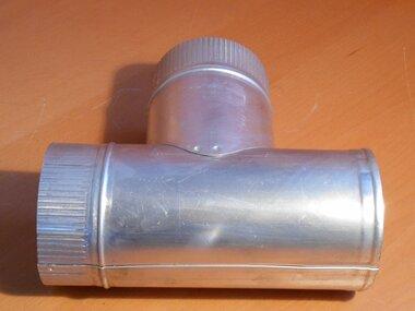 Giveg T-stuk Aluminium Ø120mm 90 graden