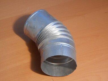 Plooibocht aluminium 45 graden Ø130mm kachelpijp