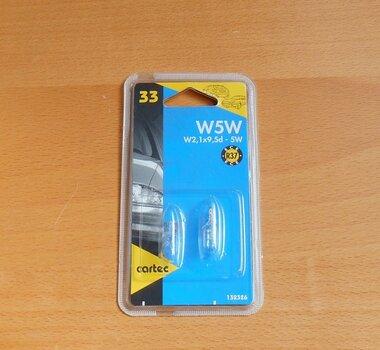 Cartec W5W stadslicht 12V 5W