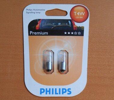Philips Signalering lamp T4W 12v 4W