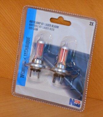 Novid car Autolamp H7 laser blauw 12v 55w