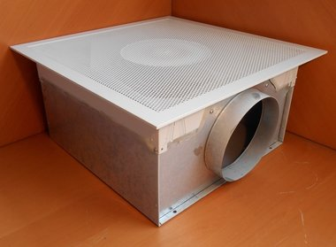 Barcol Air Geperforeerd plafondrooster met plenumbox PBS 1304 1020