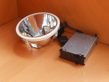 Lumiance INSAVER 225 HE OPEN 2X18W emerg. chrome 3029590 excl. lamp