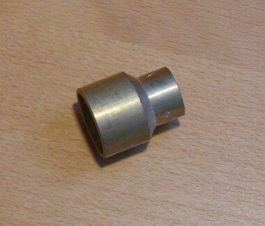 Soldeer recht verlopend sok 28x22 mm Messing